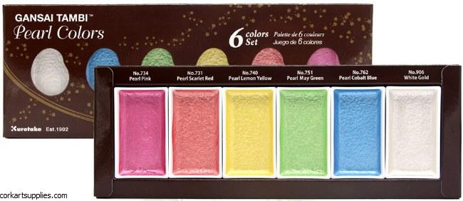Kuretake / Zig Pearl Colors, 6 Colors Set