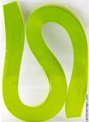 Quilling Strips 100pk Light Green