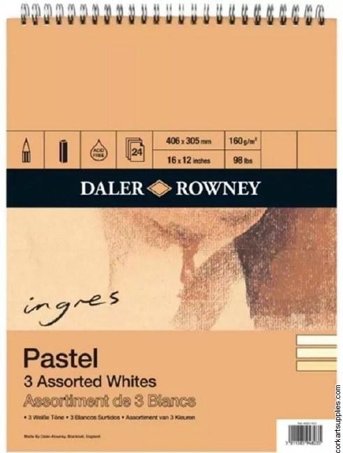 Ingres Pad 3 Whites150g 16x12