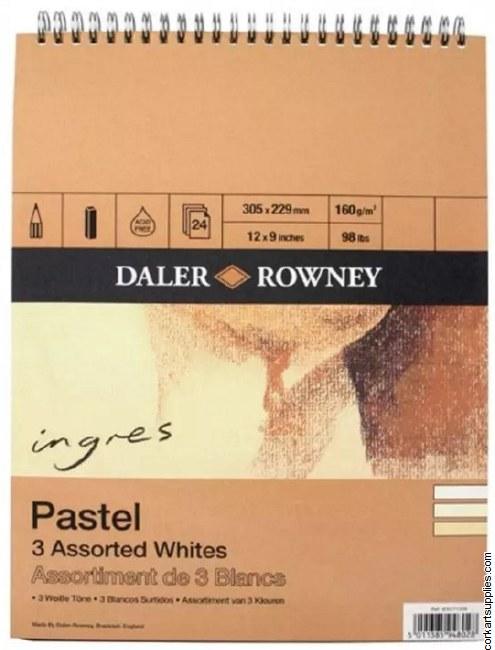 Ingres Pad 3 Whites 150g 12x9