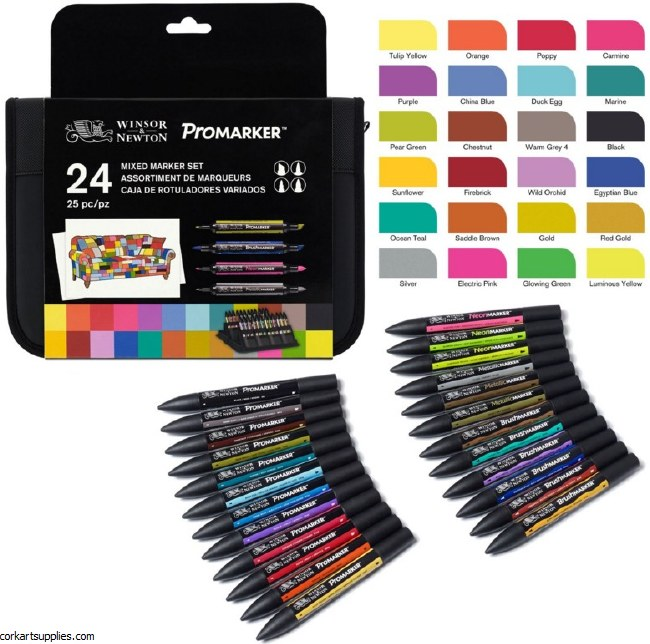 ProMarker 24pk Mixed Wallet