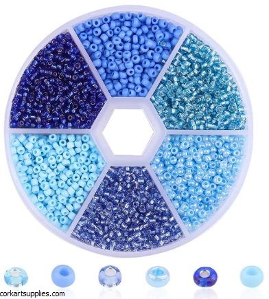 Seed Beads Blue Wheel