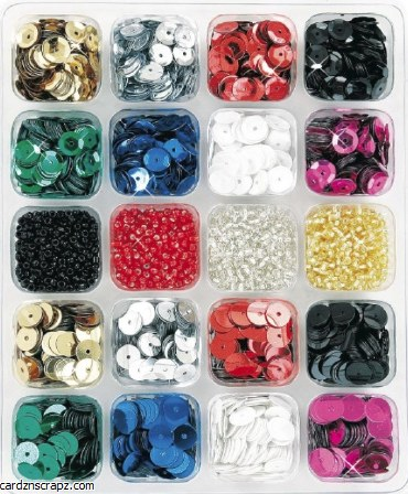 Sequins 6mm Kit Asst