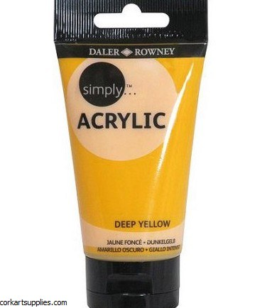 Simply Acrylic 75ml Yellow Deep