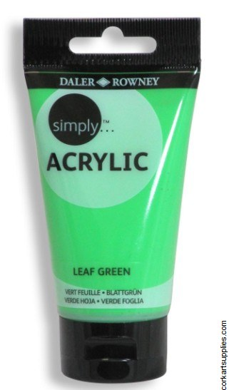 Simply Acrylic 75ml Leaf Green