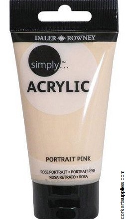 Simply Acrylic 75ml Pink Portrait