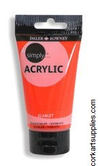 Simply Acrylic 75ml Scarlet