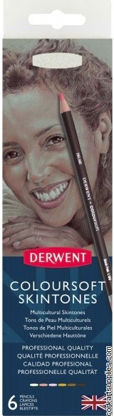 Derwent 6pk Coloursoft Skin