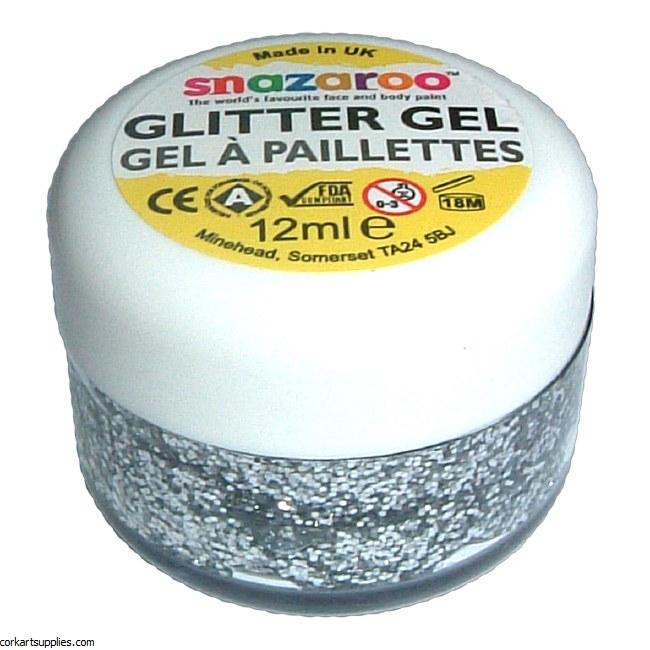 Snazaroo 12ml Glitter Gel Slvr