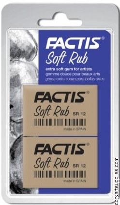 Eraser Factis Soft Rub 2pk