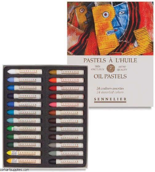 Sennelier Oil Pastel 24 Pack Assorted