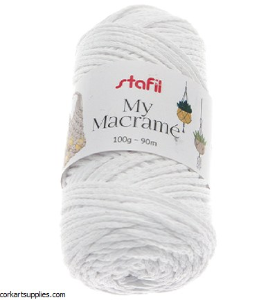 Macrame Cord 4mm 90M White