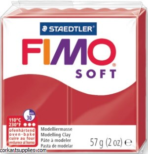 FIMO Soft 57g 8020-02 Christmas Red