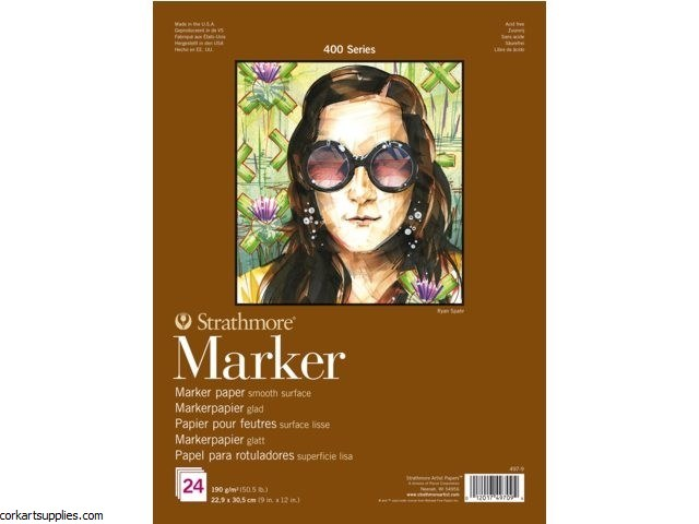 "Strathmore Marker 9x12"" 190g 24 Sheets"