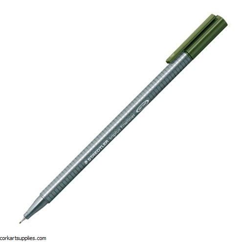 Staedtler Triplus Fineliner Marker 0.3mm Olive Grn