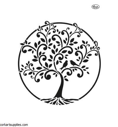 Stencil A4 Viva Tree of Life