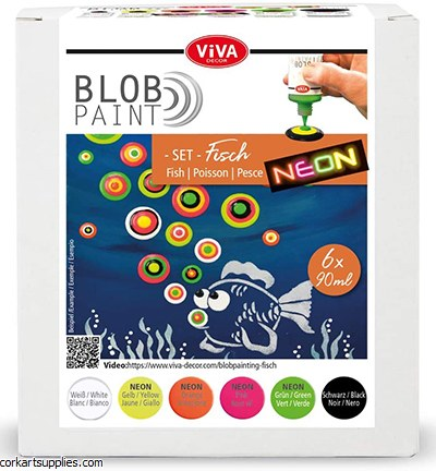 Viva Decor Blob Paint Farbset Fisch