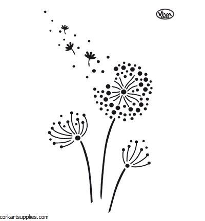 Stencil A4 Viva Dandelion
