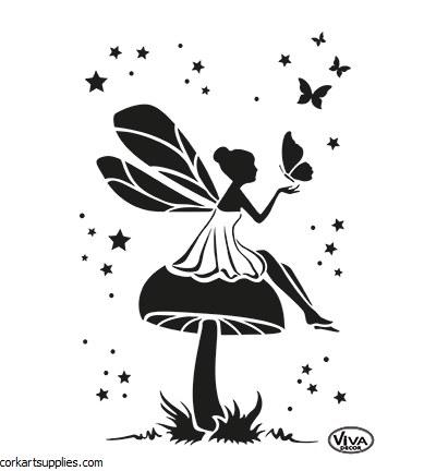 Stencil A4 Viva Mushroom