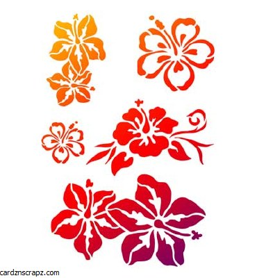 Stencil A4 Viva Exotic Flowers
