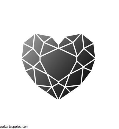 Stencil A4 Viva Heart