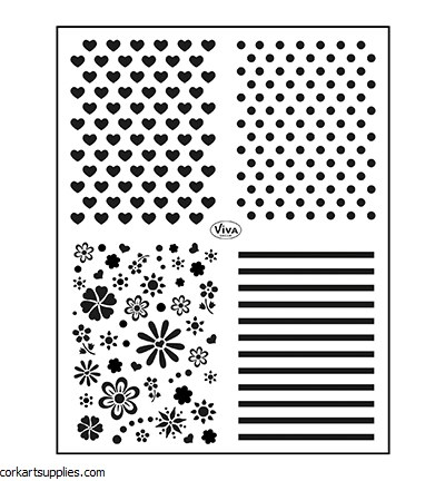 Clear Stamps A5 Viva Classic 222 set