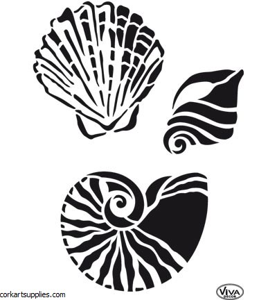 Stencil A4 Viva Decor Shells