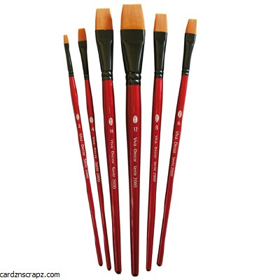 Brush Synthetic Viva Flat 6pk