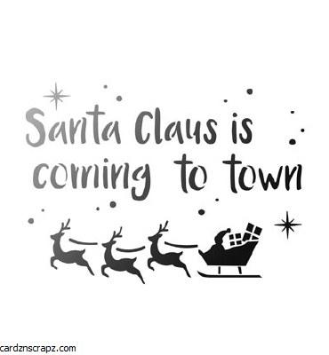 Stencil Viva Decor A4 Santa Claus