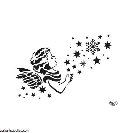 Stencil A4 Viva Xmas AngelStar