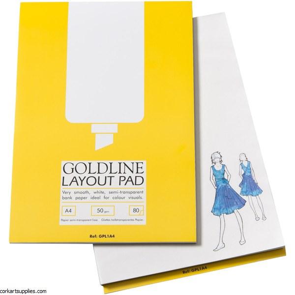 Layout Pad A4 Goldline 50gm
