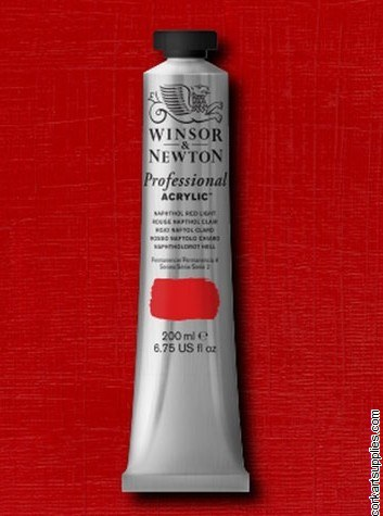 Napathol Red Light 200ml Artists' Acrylic Winsor & Newton