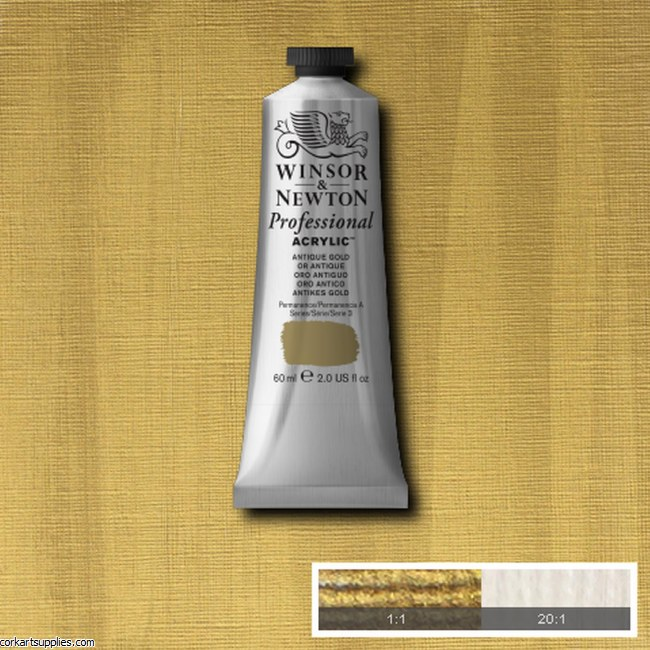 Antique Gold 60ml Artists' Acrylic Winsor & Newton