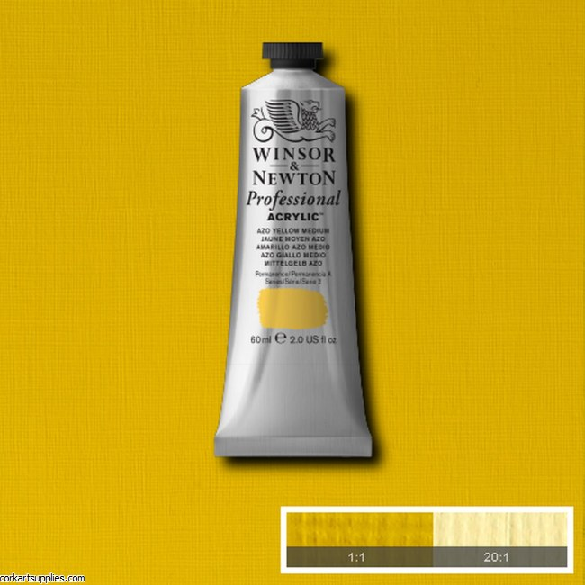 Azo Yellow Medium 60ml Artists' Acrylic Winsor & Newton