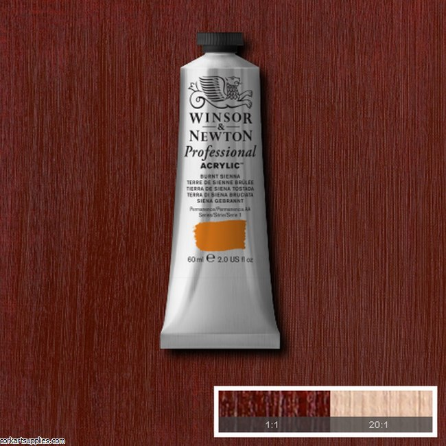 Burnt Sienna 60ml Artists' Acrylic Winsor & Newton