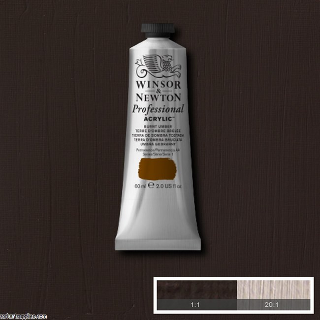 Burnt Umber 60ml Artists' Acrylic Winsor & Newton