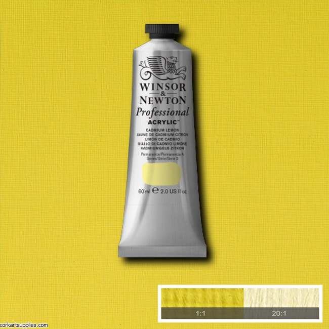 Cadmium Lemon 60ml Artists' Acrylic Winsor & Newton
