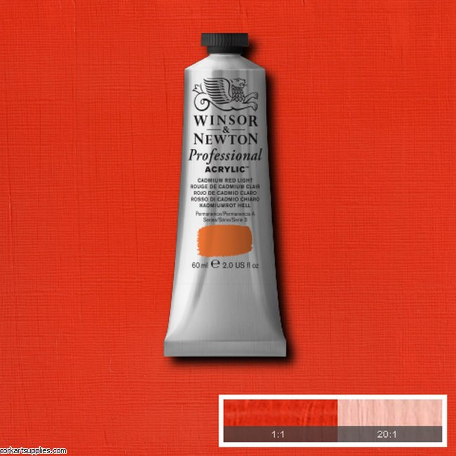 Cadmium Red Light 60ml Artists' Acrylic Winsor & Newton