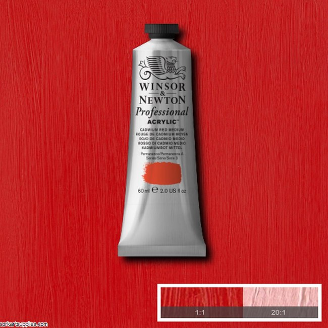 Cadmium Red Medium 60ml Artists' Acrylic Winsor & Newton