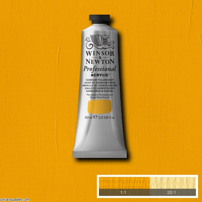 Cadmium Yellow Deep 60ml Artists' Acrylic Winsor & Newton