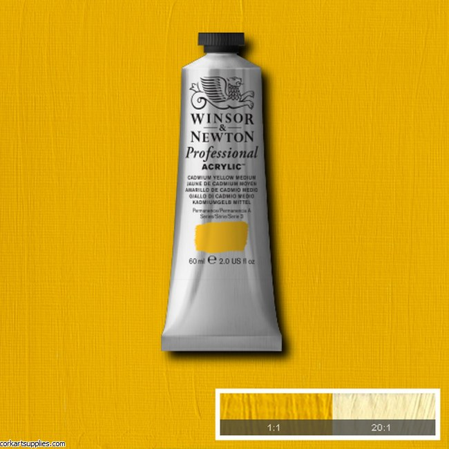 Cadmium Yellow Medium 60ml Artists' Acrylic Winsor & Newton