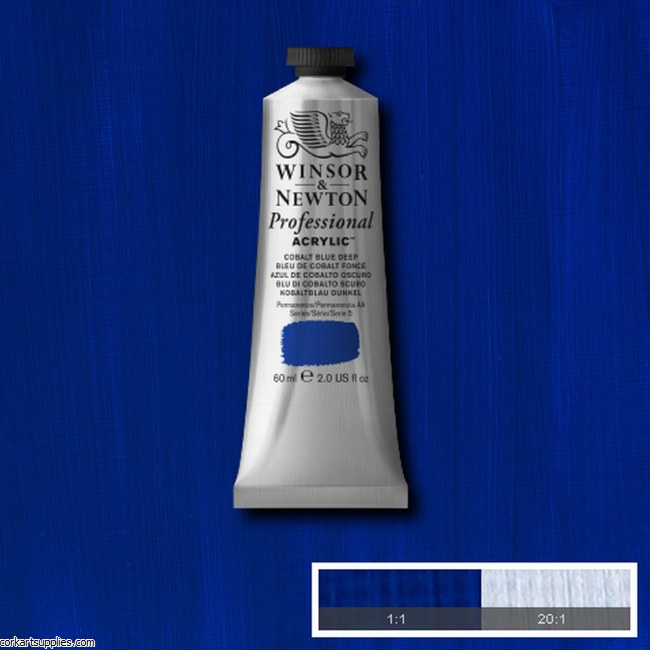 Cobalt Blue Deep 60ml Artists' Acrylic Winsor & Newton
