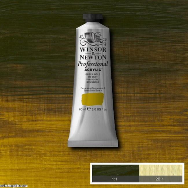 Green Gold 60ml Artists' Acrylic Winsor & Newton