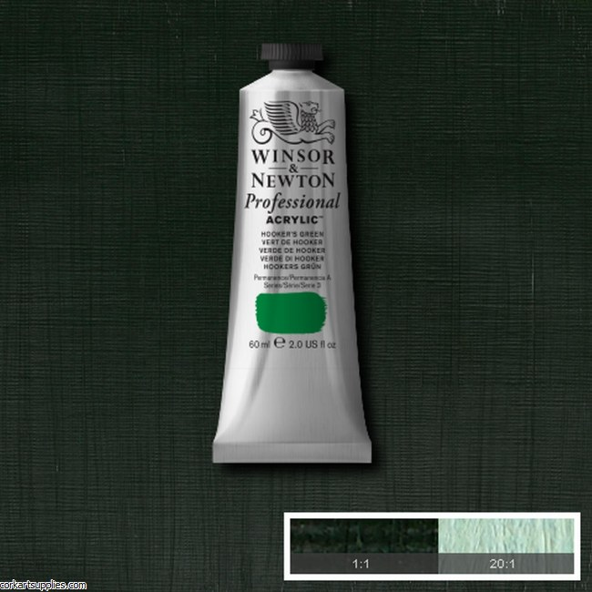 Hookers Green 60ml Artists' Acrylic Winsor & Newton