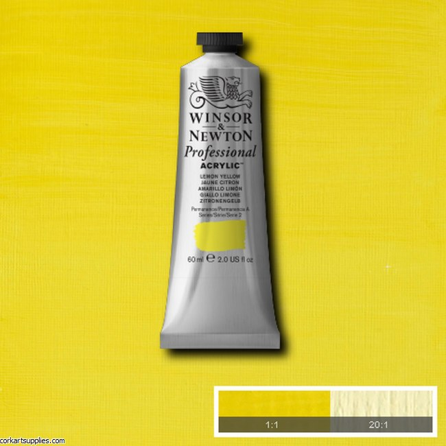 Lemon Yellow 60ml Artists' Acrylic Winsor & Newton