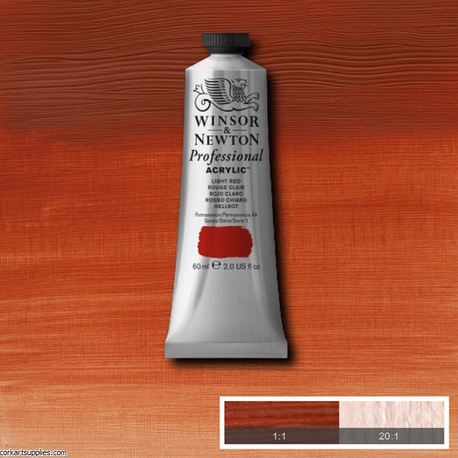 Light Red 60ml Artists' Acrylic Winsor & Newton
