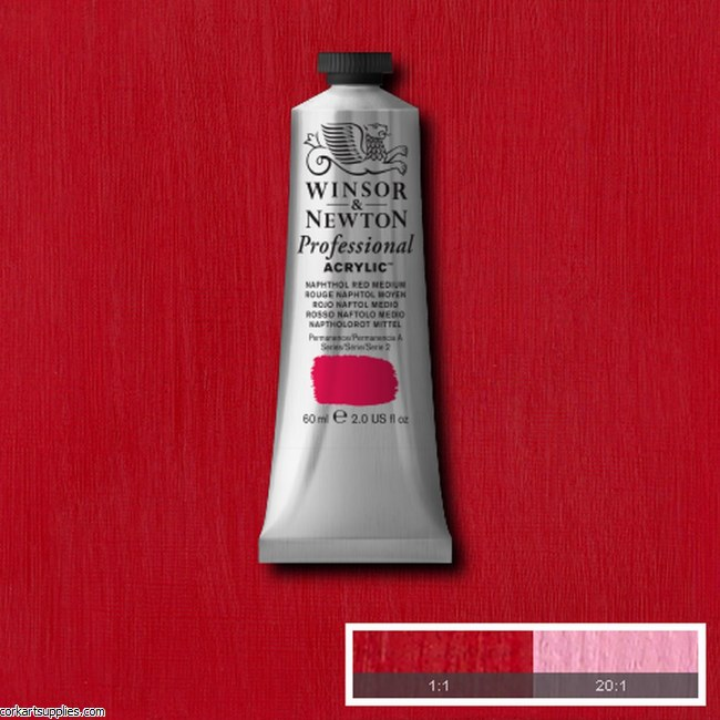 Naphtol Red Medium 60ml Artists' Acrylic Winsor & Newton