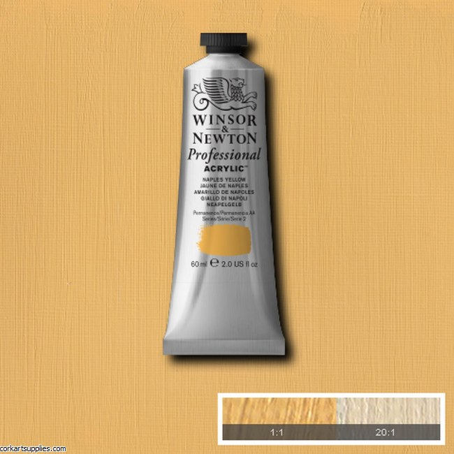 Naples Yellow 60ml Artists' Acrylic Winsor & Newton