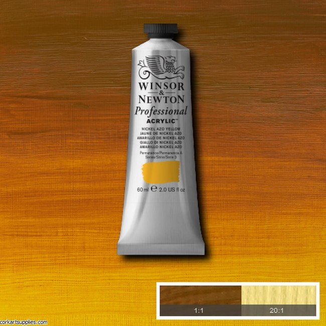 Nickel Azo Yellow 60ml Artists' Acrylic Winsor & Newton