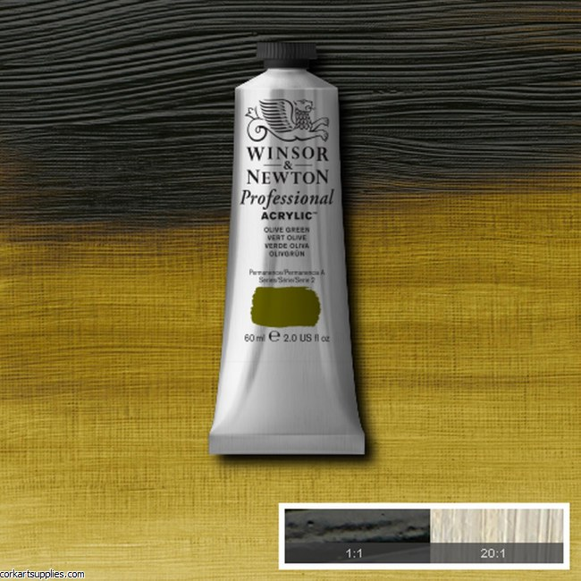 Olive Green 60ml Artists' Acrylic Winsor & Newton